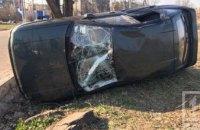 На Днепропетровщине пьяный водитель перевернулся на машине (ФОТО)