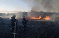 В Петропавловском районе произошел пожар в экосистеме