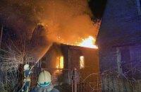 Ночью в Новомосковском районе воспламенилась дача