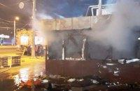 В Днепре ночью сгорел торговый киоск (ФОТО)