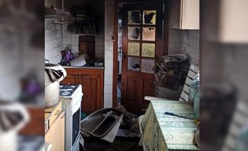 Под Днепром  горел жилой дом