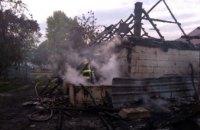 В Днепропетровской области дотла сгорел жилой дом