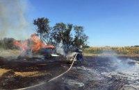 В Новомосковском районе огонь перекинулся с травы на жилой дом