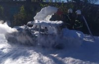 На Днепропетровщине пожарные за 10 минут потушили горящее авто (ФОТО)