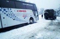 На Закарпатье в аварию попал автобус международного сообщения (ФОТО)