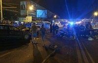 В результате масштабного ДТП на Слобожанском проспекте в Днепре погиб человек (ФОТО)