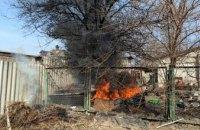 В частном секторе Павлограда сгорела хозпостройка