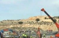 В Испании перевернулся грузовик со слонами (ВИДЕО)