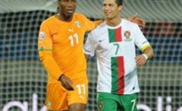 Матч сборных Кот-д'Ивуара и Португалии закончился нулевой ничьей