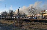 Масштабный пожар на рынке в Днепропетровской области: сгорели торговые павильоны на площади 300 кв м (ФОТО, ВИДЕО)