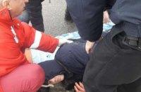 В Днепре на ходу из маршрутки выпал пассажир (ФОТО)
