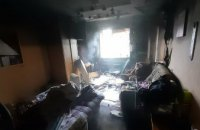 В Днепре в многоэтажке сгорела квартира (ВИДЕО)