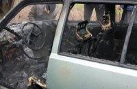 На трассе в Днепропетровской области на ходу сгорел автомобиль