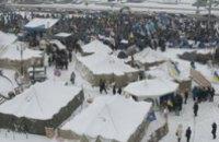 Милиция ликвидировала палаточный городок на Майдане
