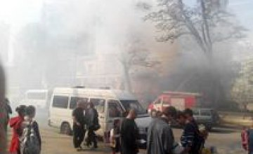В центре Днепропетровска горел дом