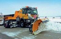 Для ликвидации последствий снегопада на дорогах Днепропетровщины за ночь было  задействовано 48 единиц снегоуборочной техники