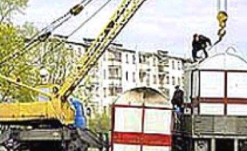 В Ленинском районе Днепропетровска начался демонтаж киосков