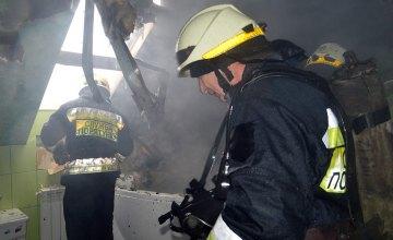 Под Днепром сгорел жилой дом с гаражом и машиной (ВИДЕО)