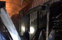 На Днепропетровщине горел продуктовый  рынок: огнем уничтожено 240 кв. метров (ФОТО, ВИДЕО)
