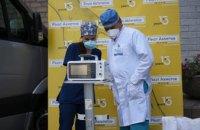 Больницы Днепра получили еще два аппарата искусственной вентиляции легких от ДТЭК и Фонда Рината Ахметова