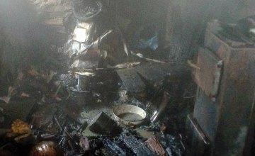 В Днепропетровской области сгорел одноэтажный жилой  дом