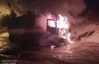 Пострадал 62-летний водитель: в Днепре загорелся грузовой автомобиль