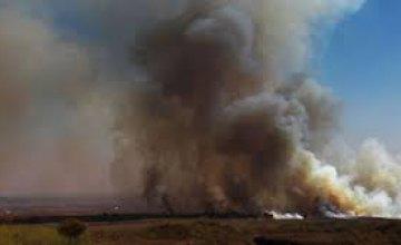 На Днепропетровщине произошел пожар на территории военного полигона (ДОБАВЛЕНЫ ФОТО)