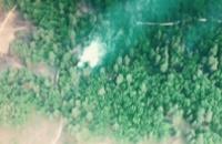 Состояние возгорания на военном полигоне в Гвардейском на 6:30 утра: сильное задымление