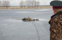 В Днепропетровске рыбак провалился под лед