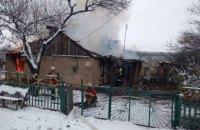 На Днепропетровщине горел одноэтажный дом: огнём повреждено почти 100 кв. метров