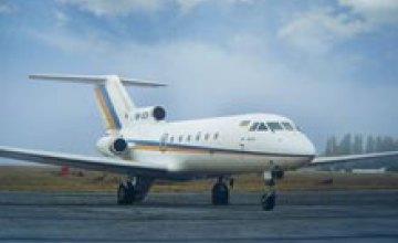 Объем грузоперевозок авиационным транспортом в Днепропетровской области увеличился в 2 раза