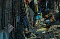 В Днепропетровске сгорел Березинский рынок (ФОТО)
