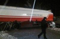 Во Львовской области автоцистерна столкнулась с двумя микроавтобусами:  2 человека погибло и 5 пострадало