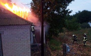 В Днепропетровской области сгорело заброшенное здание