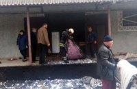 В Криничанском районе горел склад на территории интерната